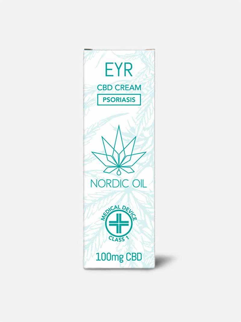 Confezione crema CBD per psoriasi Eyr