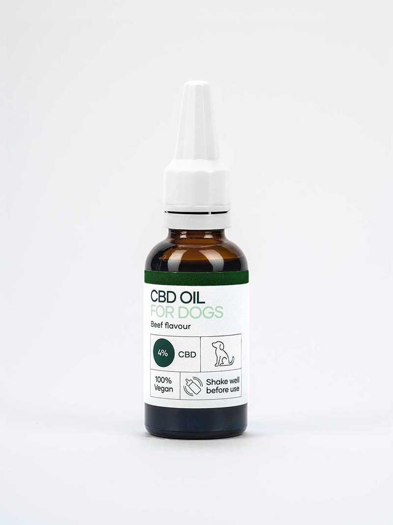 Olio CBD per cani 4% (30ml) con aroma di manzo